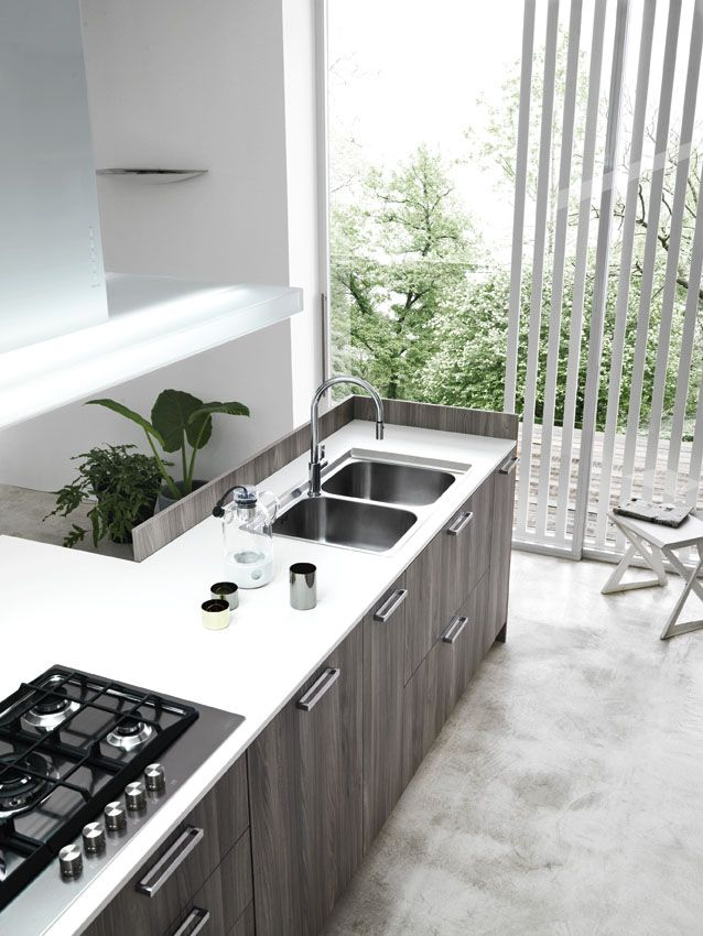Fitted Kitchen With Island ARIEL 03 By Cesar Arredamenti
