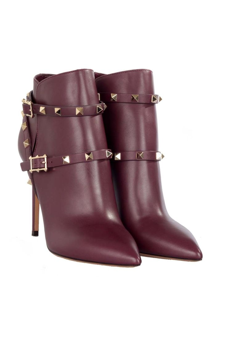 #Valentino Rockstud ankle boots - make them yours at Bagheera Boutique, click here --> http://www.bagheeraboutique.com/en-US/designer/valentino