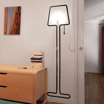 Scopri Lampada Tall Lampe -/ Set sticker + kit elettrico, Nero - Kit lampada + Sticker di Pa Design, Made In Design Italia