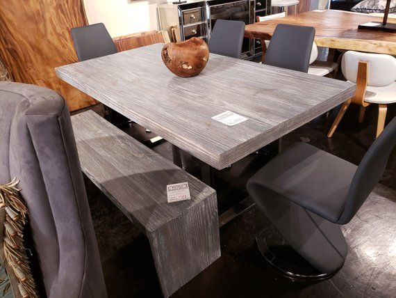 Sale Driftwood Distressed Dining Table With Bench Kitchen Table