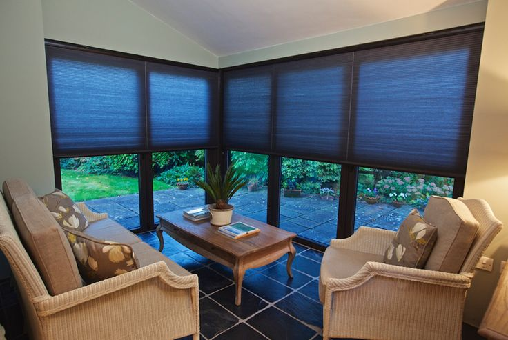 Wire-Free Power Blinds from Appeal Home Shading are cordless, making them a safe option for homes with children. The blinds can be controlled via a remote control.