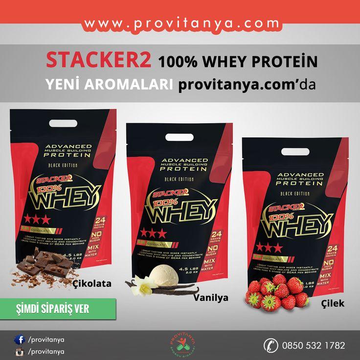 STACKER2 100% #WHEY PROTEİN  Çikolata - Çilek - Vanilya   Yeni Aromaları www.provitanya.com da İçeriğinde Avrupa'nın en kaliteli ham maddelerinden birisi olan VOLAC #protein ham maddesi bulunmaktadır. Volac protein bebek mamalarında kullanılan bir marka olup Avrupanın en güvenilir protein üreticilerindendir.  Detaylı İncelemek İçin; http://bit.ly/1qCHwqJ  #stacker2 #provitanya #wheyprotein #bodybuilding #spor #fitness #gym #kaskütlesi #supplement #antrenman