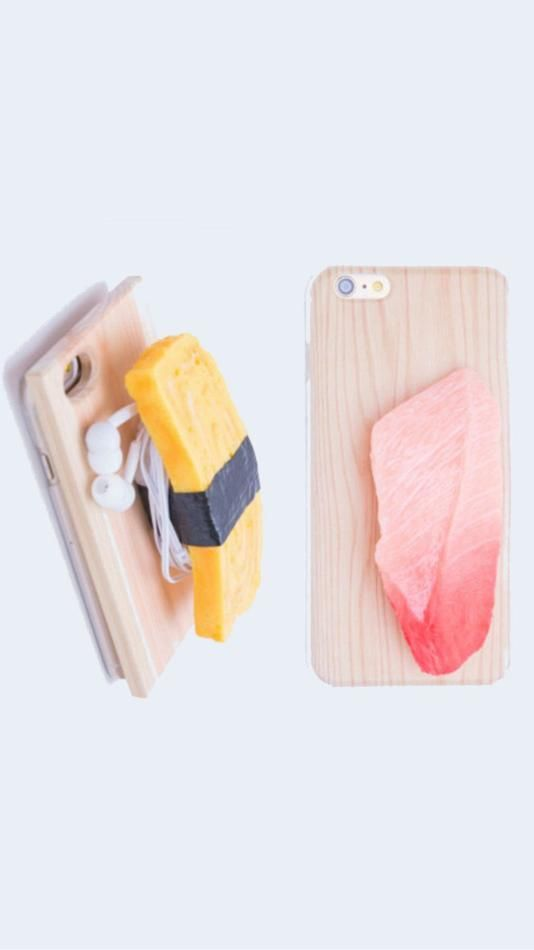 This sushi-shaped iPhone case is perfect for foodies.