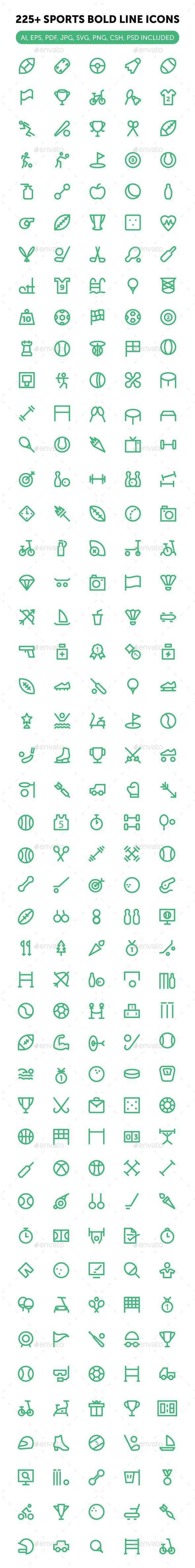 225+ Sports Icons Set #design Download: http://graphicriver.net/item/225-sports-icons-set/13311455?ref=ksioks