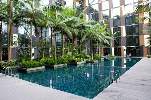 Crowne Plaza Changi Singapore | a great pool and hotel.  Fantastic for long layovers in Singapore.