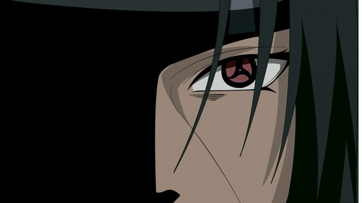 1920x1080 Wallpaper naruto, akatsuki uchiha, guy, bangs, close-up