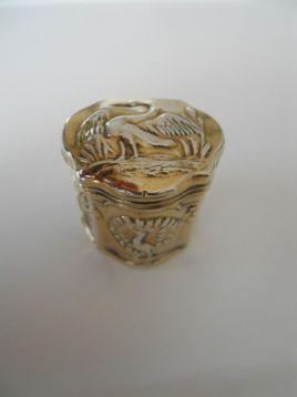 Verguld lodereindoosje - loddereindoosje - antiek zilver