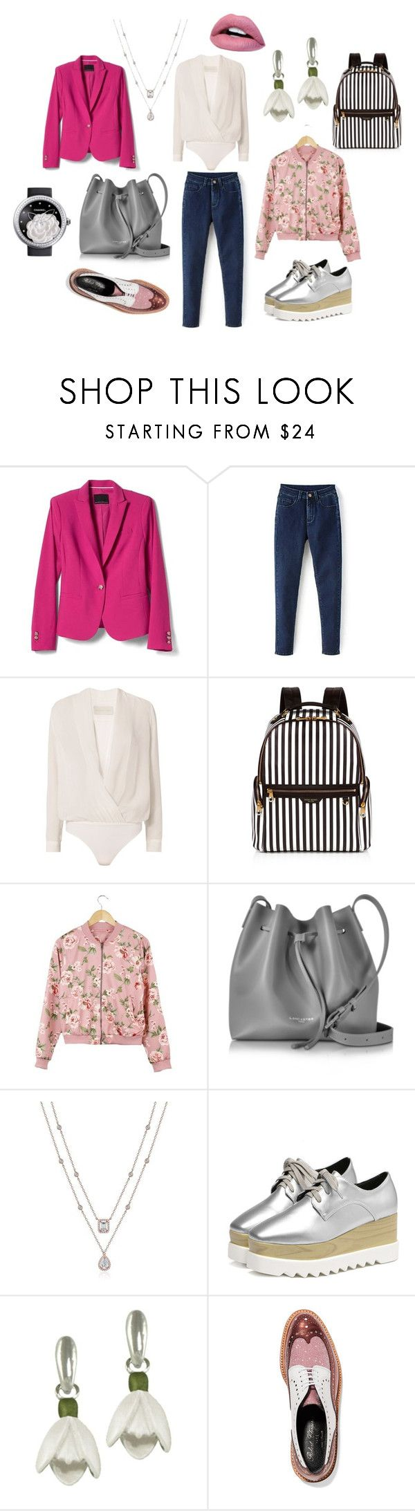 """Пацанка"" by evavendoc on Polyvore featuring мода, Banana Republic, Michelle Mason, Henri Bendel, Lancaster, Robert Clergerie и Chanel"
