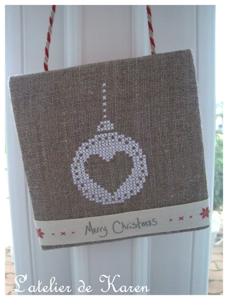 ~ Happy Valentines Day ~ Instead of Merry Christmas....Cute to hang on a knob for Curios, Dressers, Etc....