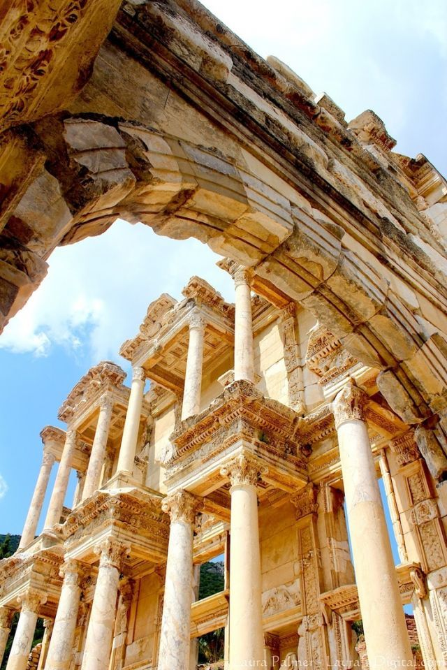 The library of Celsus is an ancient Roman building in Ephesus, Anatolia, now part of Selçuk, Turkey