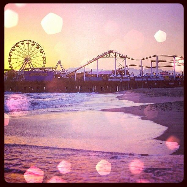 Sunset at the Santa Monica pier