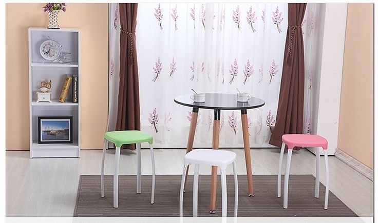 232.88$  Buy here - http://aligli.worldwells.pw/go.php?t=32777386769 - Living room stool Dressing table red stool bathroom yellow color free shipping