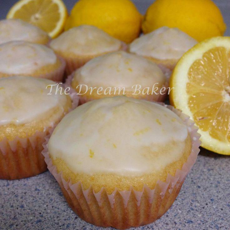 Lemon Glazed Vanilla Pound Cupcakes