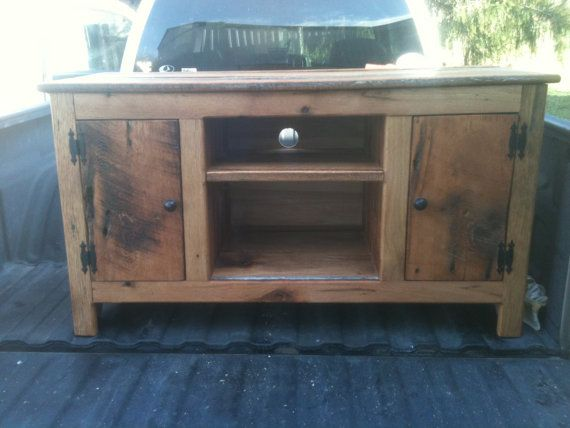 Old barn wood tv stand Media stand Reclaimed wood by MocoPrimitive, $375.00 - 11 Best Barn Wood TV Stands/ Entertainment Centers Images On Pinterest