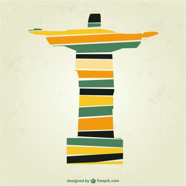 Christ the Redeemer Brazil vector art Vector | Free Download