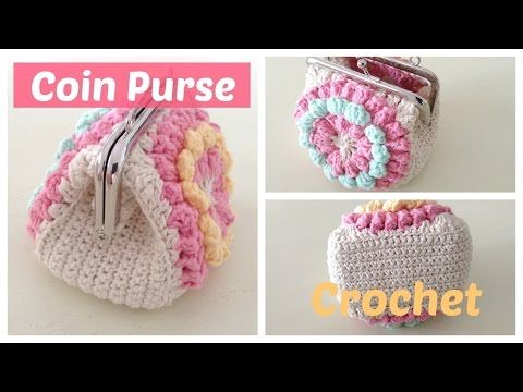 Monedero a crochet con boquilla, con granny squares, My Crafts and DIY Projects