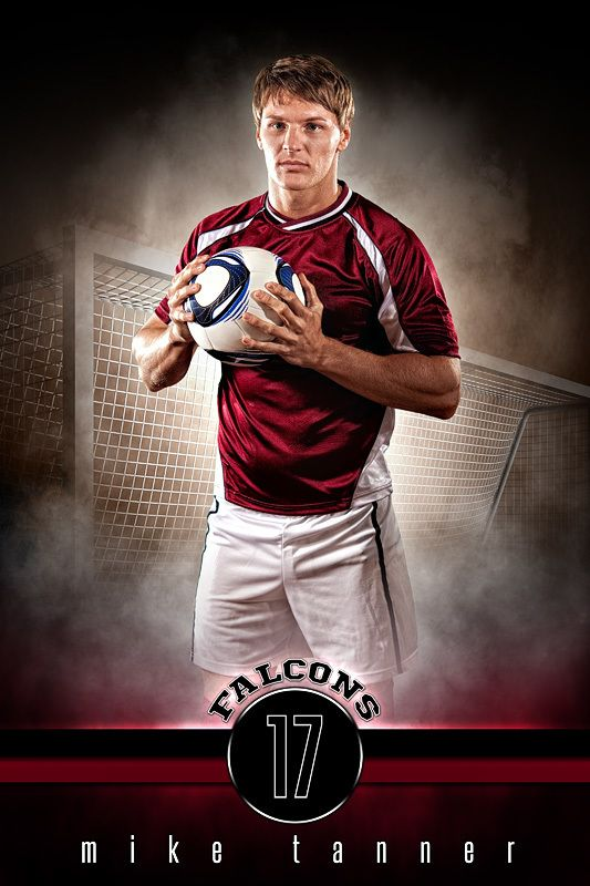 Player Banner Sports Photo Template - Fantasy Soccer - Photoshop Sports Template