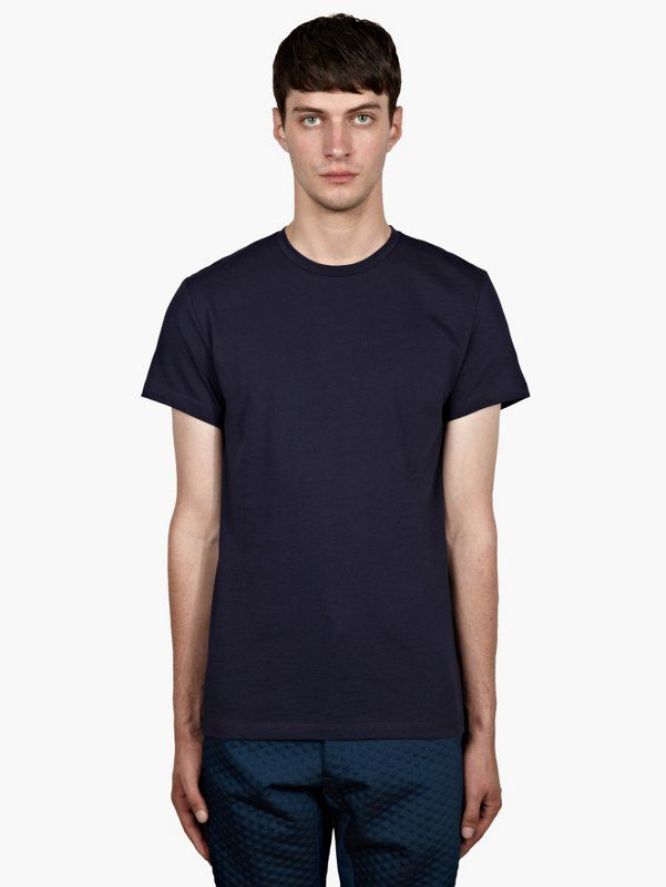 Jil Sander Men's Navy Classic Cotton T-Shirt | oki-ni