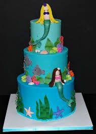 Resultado de imagen para tortas de cumpleaños de sirenas