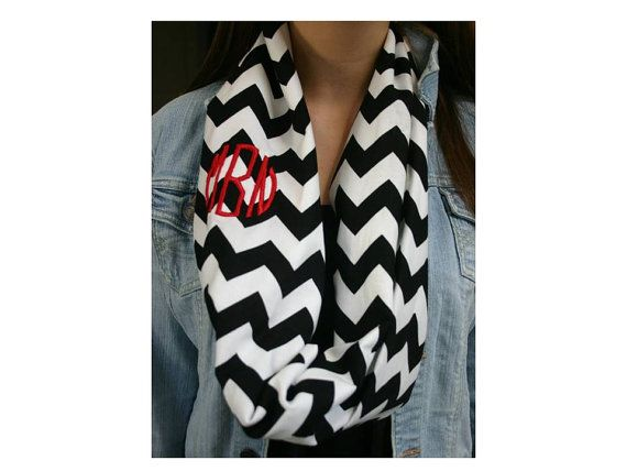 Monogrammed Scarf - Perfect for Game Day! - Fall Essential on Etsy, $18.00