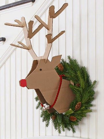 Me encanta este reno #diy para decorar la casa de navidad. Es genial