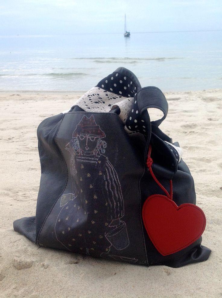 BorsebyD bag on the beach... #Thailand #Samui #beach #bag