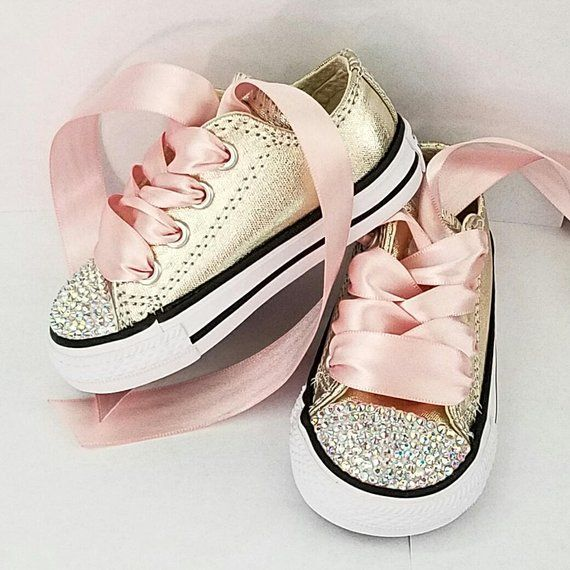 Rose Gold Converse Kids Sz 9