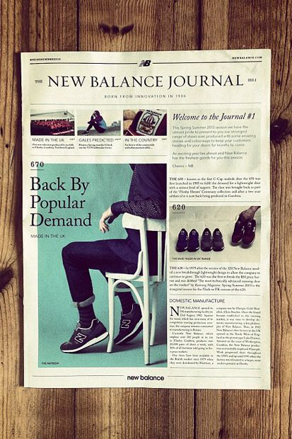 newspaper print editorial design typography format mens journal fashion menswear lifestyle