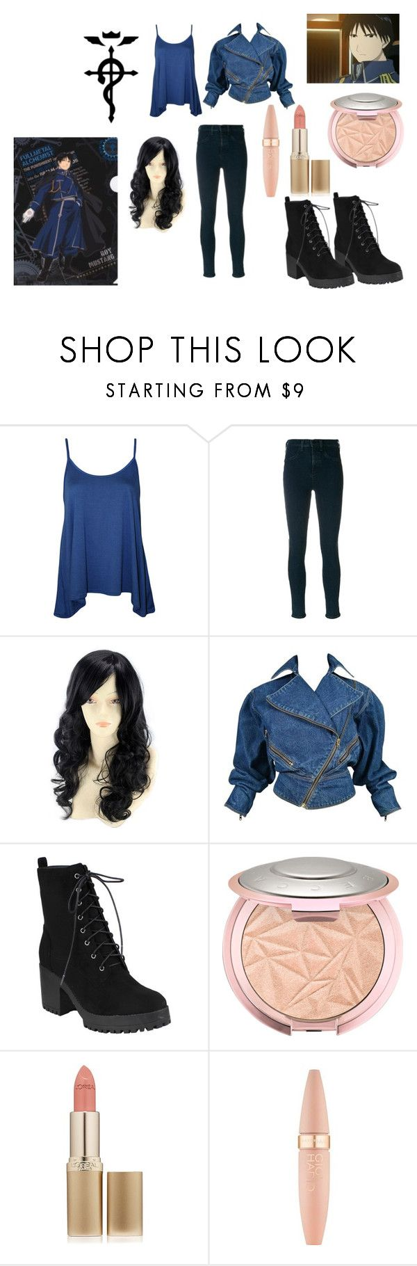 """Roy Mustang"" by neptune10089 ❤ liked on Polyvore featuring WearAll, rag & bone/JEAN, WithChic, Alaïa, L'Oréal Paris and Maybelline"