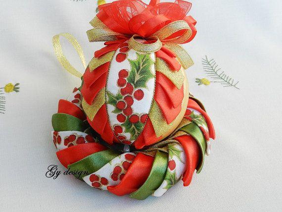 Merveilleux Noël ensemble Couronne matelassé ornements par Gydesi                                                                                                                                                                                 Plus