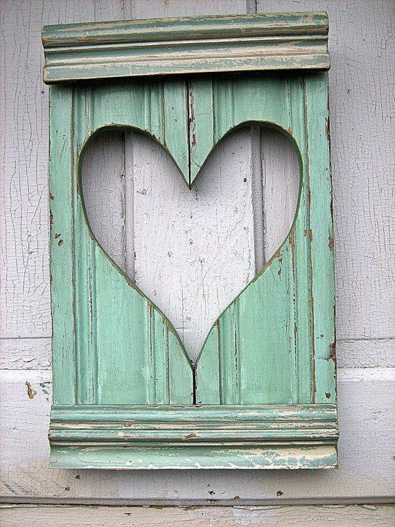 Mint & heart: Ideas, Mint Green, Heart, Wooden Heart, Like Heart, Color, Green Heart