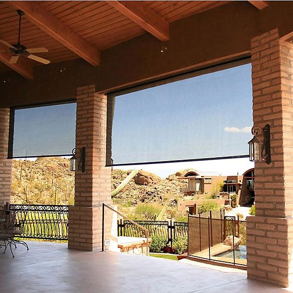 Deluxe Exterior Solar Shades 14pct Open Image 1