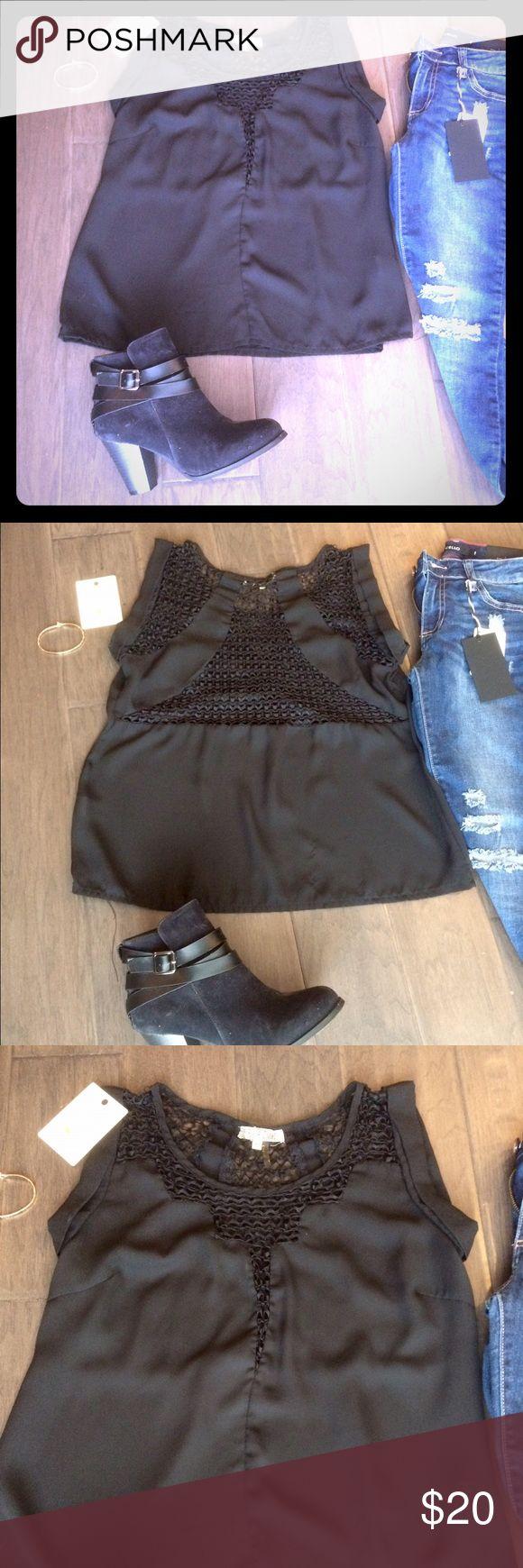 Black chiffon blouse Black chiffon blouse. Cabrini Tops Blouses