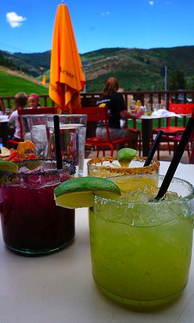 Margaritas at Red Tail - Park City, Utah has a fab party scene and plenty of cool cocktails and lots of places to throw them back! (5 Fab Reasons to Visit Park City,Utah in the spring, summer, or fall)