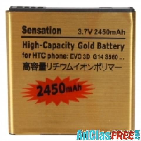 2450mAh Standard Gold Battery for HTC Sensation XL Bliss - US Classified Ads | Post Free Ads Online, Free Adversiting