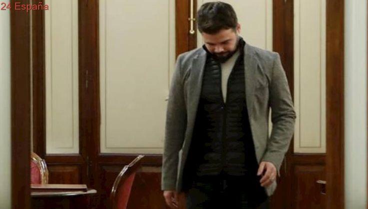 Ana Pastor se reúne con Rufián en su despacho tras el episodio de las esposas en el Congreso