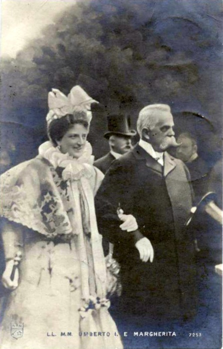 Queen Margherita and King Umberto I of Italy