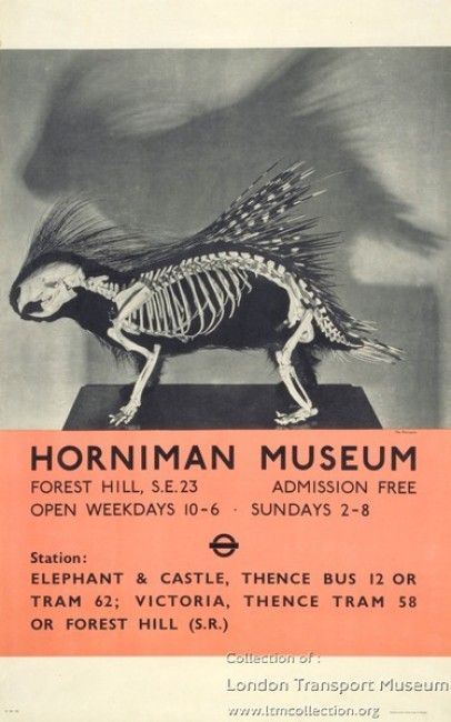 Poster for the Horniman Museum currently in the London Transport Museum collection.