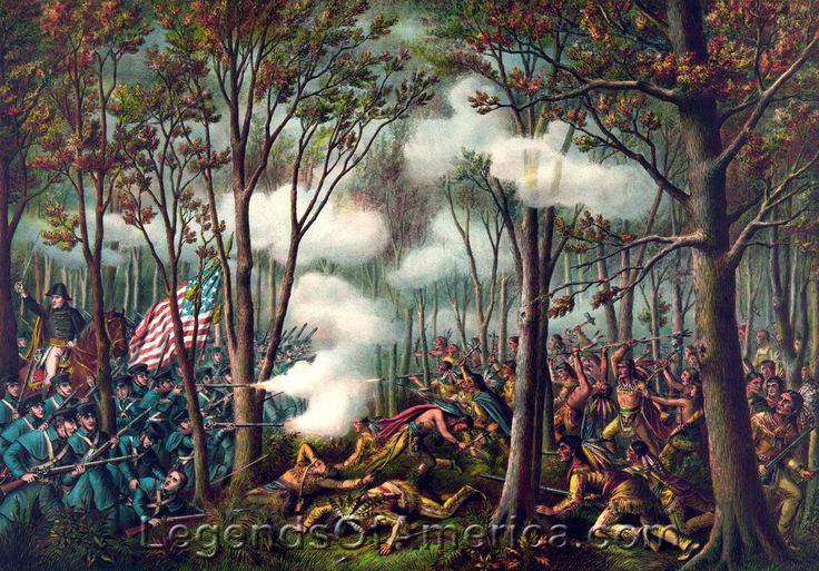The Battle of Tippecanoe, Indiana served as a catalyst of the War of 1812. By Kurz and Allison, 1889