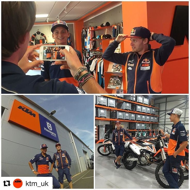 It was great to have the Red Bull KTM Ajo Moto3 riders Brad Binder and Bo Bendsneyder spend the afternoon at our new Silverstone-based offices. Wishing them and all the KTM riders a fast and safe weekend  #MyKTM #READYTORACE #MOTO3 #BritishGP #KTM http://ift.tt/2bYGpNo