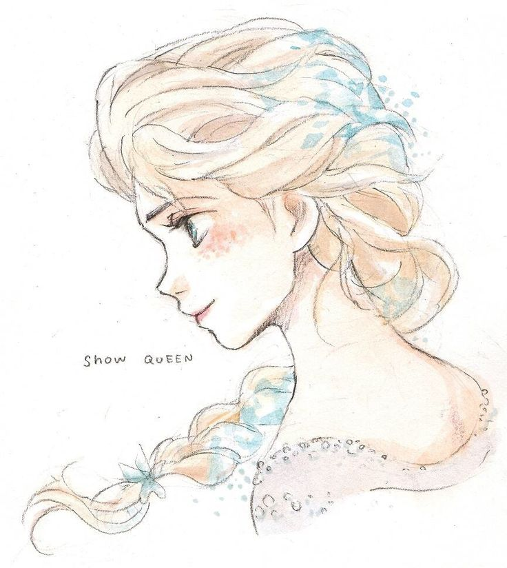Elsa by Takimizu Tarako - I just realized that Hayao Miyazaki would have done an AMAZING job with Frozen if he animated it.