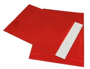 bolsa metalizado Rojo para detalle 12x17cms para envolver regalo invitados #Grandetalles