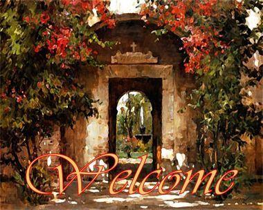 Welcome Sign Tuscan Art Tile