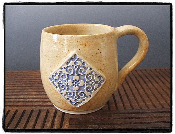 Mediterranean Mug in Shino by misunrie by misunrie on Etsy, $20.00
