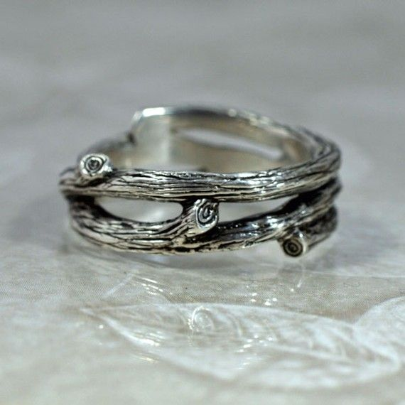 TANGLEWOOD Branch Wedding Band  a Natural Twigs and Branches