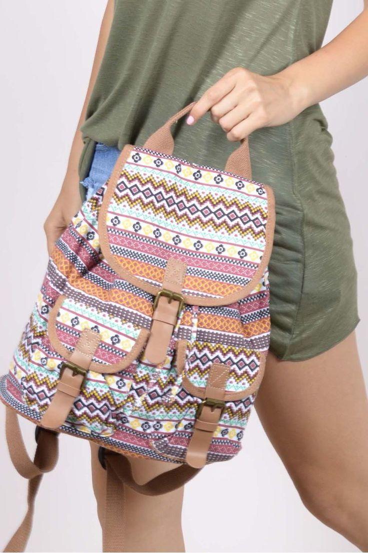 Boho τσάντα πλάτης.100% Polyester