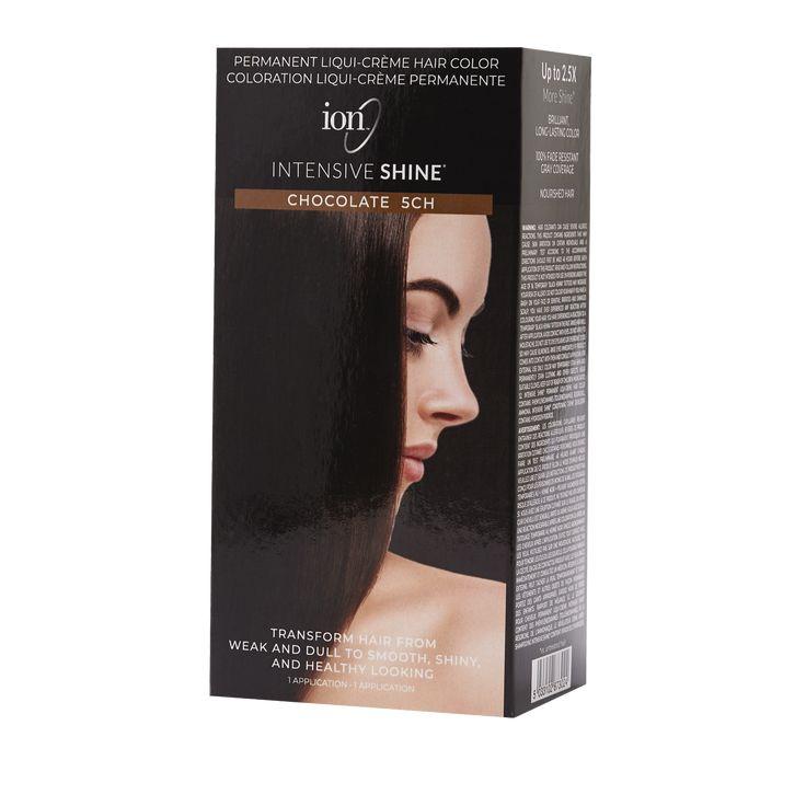 Ion Intensive Shine Hair Color Kit Chocolate 5ch Hair Color Kit Hair Color Ion Hair Colors Hair Shine