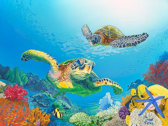 17 best ideas about turtle painting on pinterest sea for Turtle fish paint