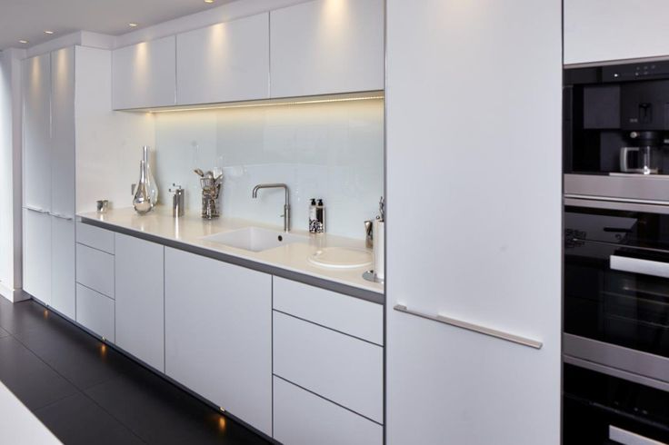 Bulthaup B3 Kitchen In Alpine White Laminate With A Natural Aluminium  Island. Miele And Gaggenau Appliances. Corian Worktops From Counter  Production | ...