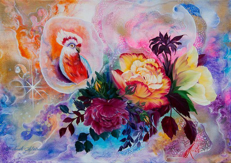 Когда цветы цветут/ Художник Ilona Tigges-Goetze. Обсуждение на LiveInternet - Российский Сервис Онлайн-Дневников